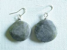 Grey Serpentine earrings